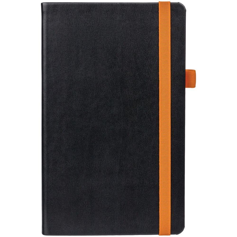 Ежедневник Ton недатированный, черный с оранжевым