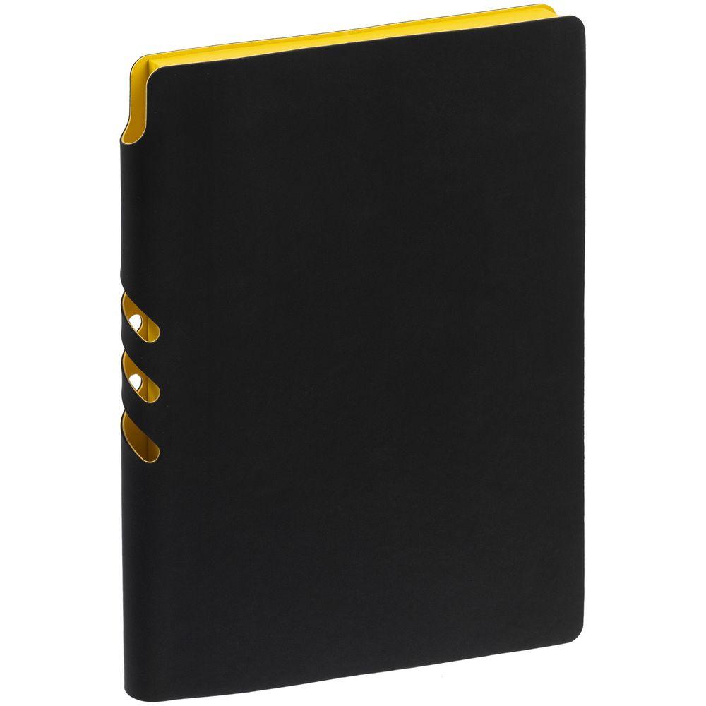 Ежедневник Flexpen Black, недатированный, черный с желтым