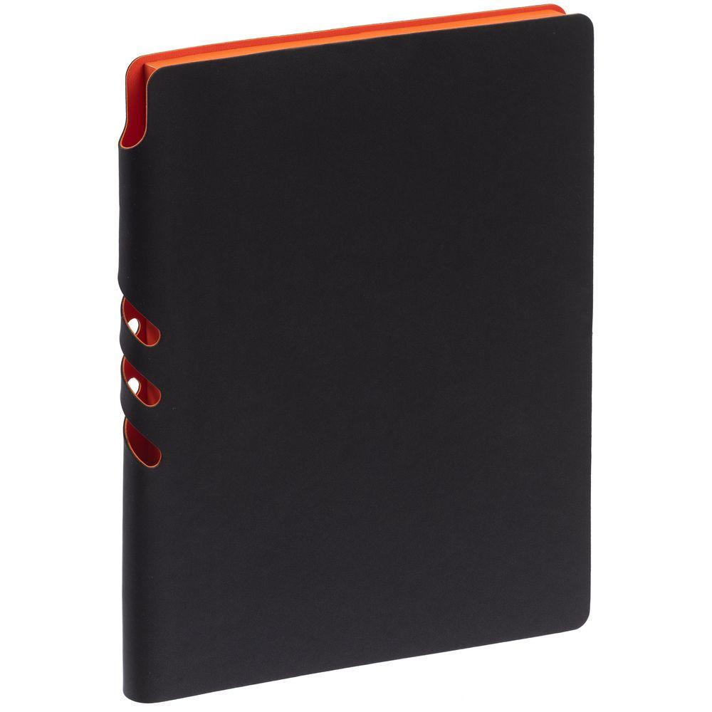 Ежедневник Flexpen Black, недатированный, черный с оранжевым