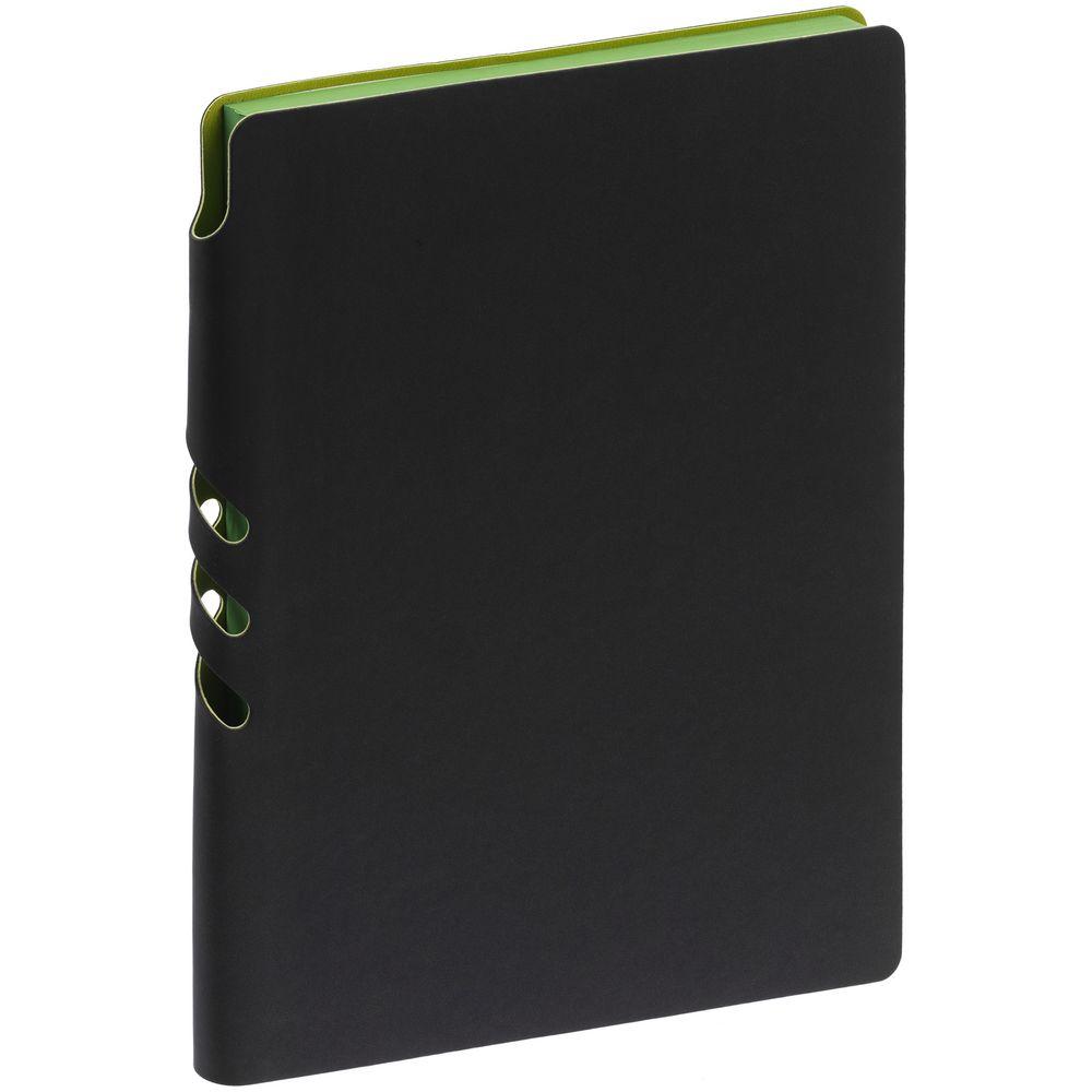 Ежедневник Flexpen Black, недатированный, черный с зеленым