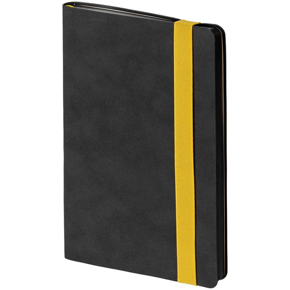 Ежедневник Velours, недатированный, черный с желтым