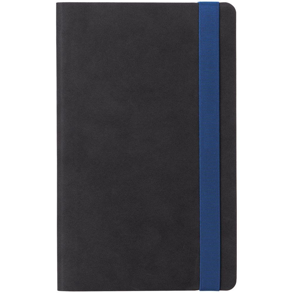 Ежедневник Velours, недатированный, черный с синим