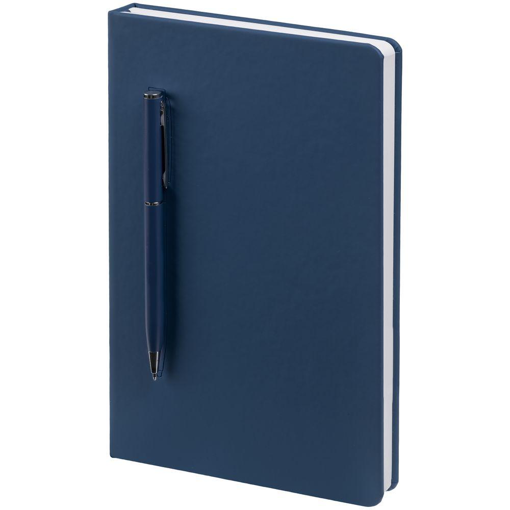 Ежедневник Magnet Shall с ручкой, синий
