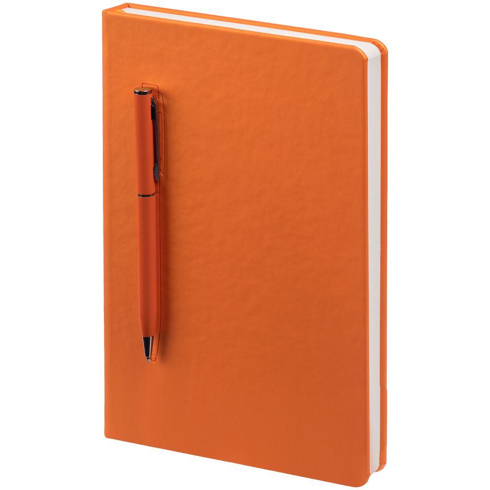 Ежедневник Magnet Shall с ручкой, оранжевый