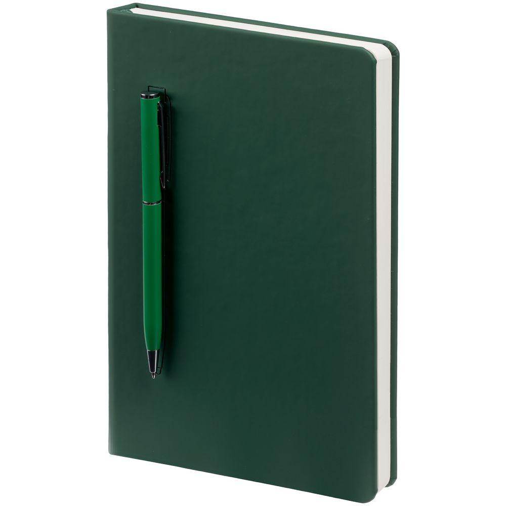 Ежедневник Magnet Shall с ручкой, зеленый