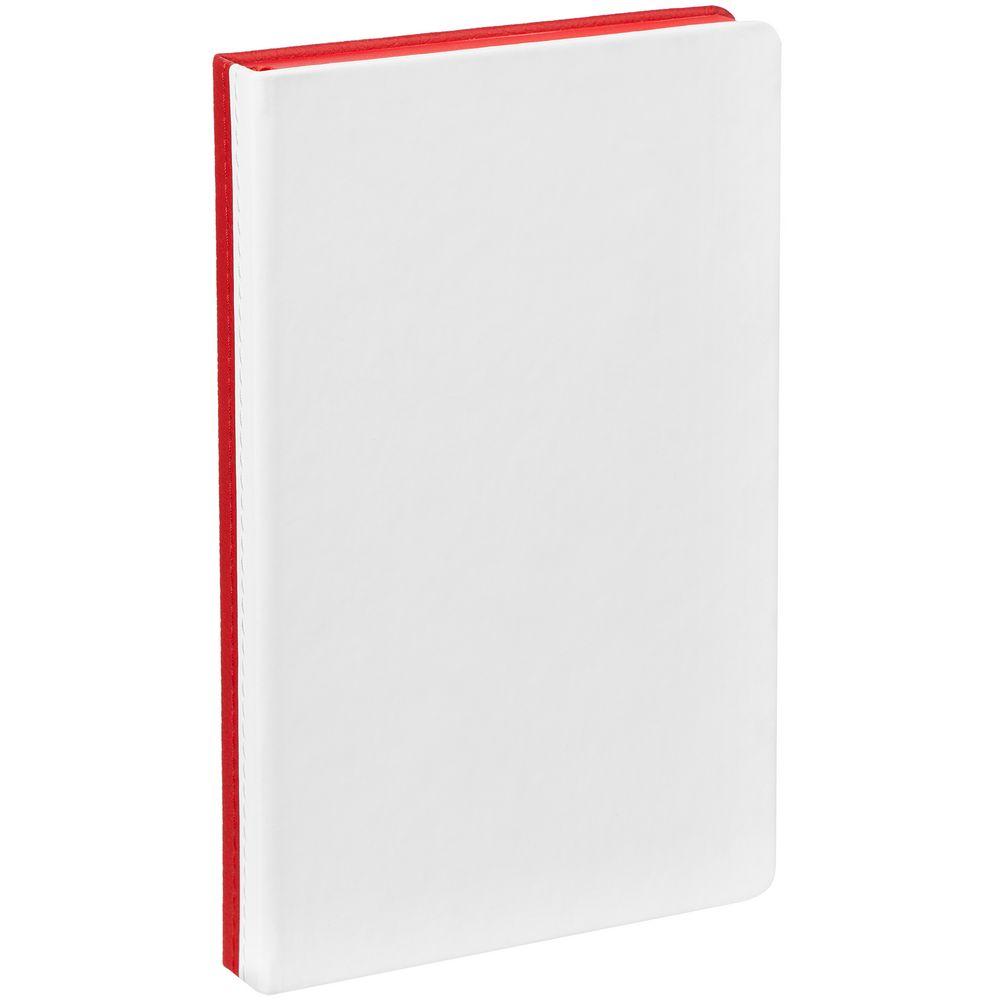 Ежедневник Duplex, недатированный, белый с красным