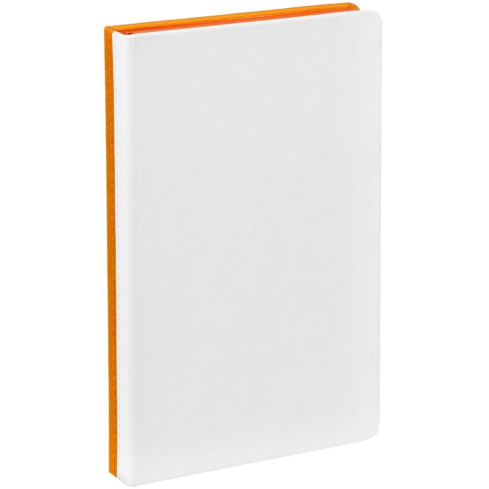 Ежедневник Duplex, недатированный, белый с оранжевым