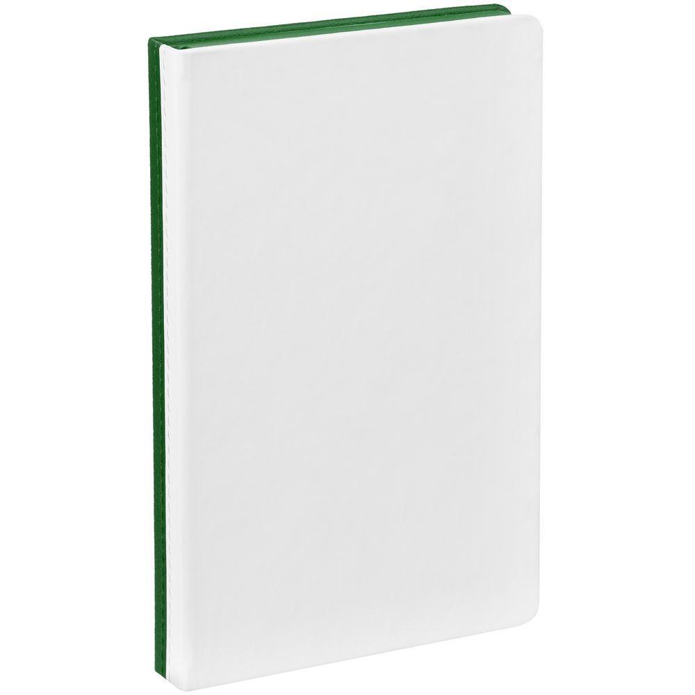 Ежедневник Duplex, недатированный, белый с зеленым