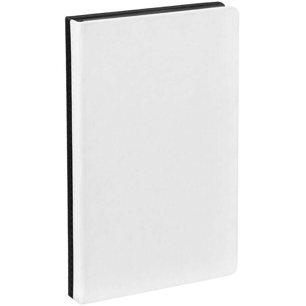 Ежедневник Duplex, недатированный, белый с черным