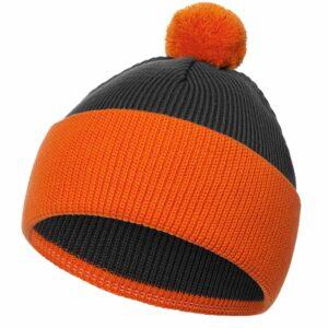 Шапка Snappy, темно-серая с оранжевым