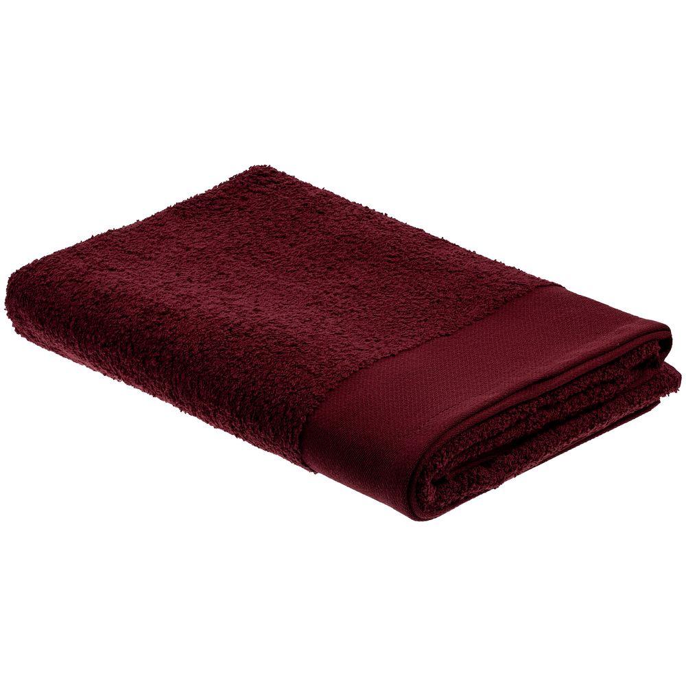 Полотенце Odelle, большое, бордовое