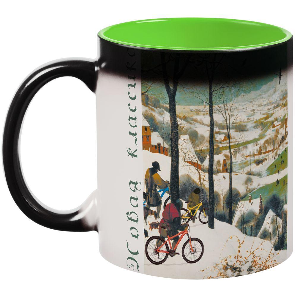 Кружка-хамелеон «Новая классика. Велосезон XVI», матовая, зелено-черная