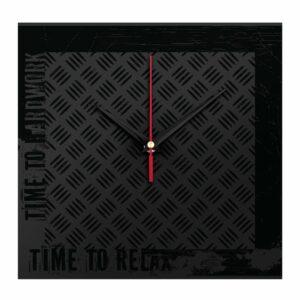 Часы настенные стеклянные Hard Work Black