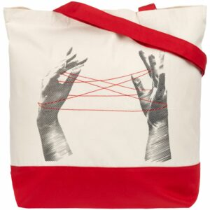 Холщовая сумка «Веревочки», красная