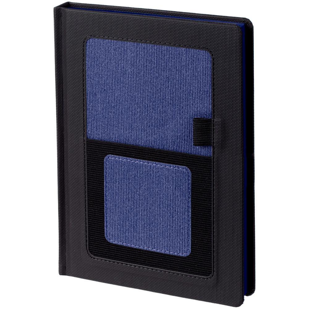 Ежедневник Mobile, недатированный, черный с синим