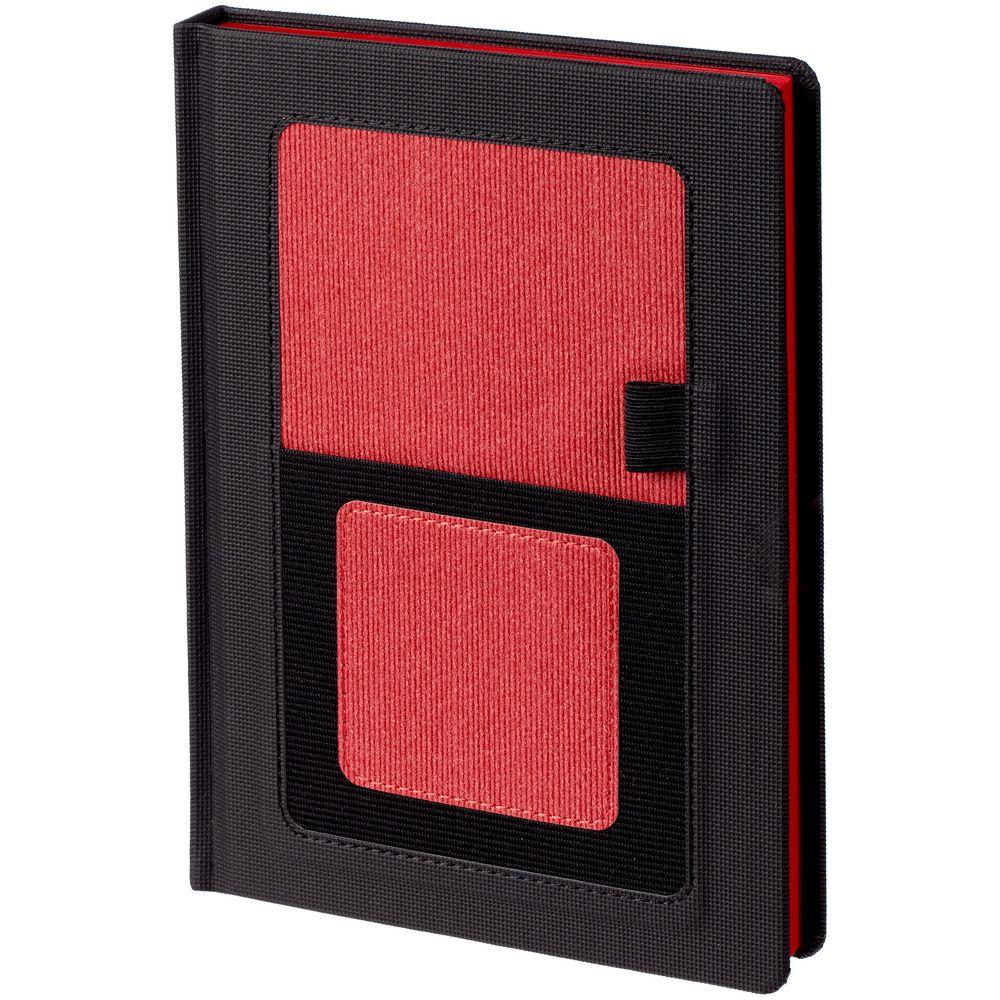 Ежедневник Mobile, недатированный, черный с красным