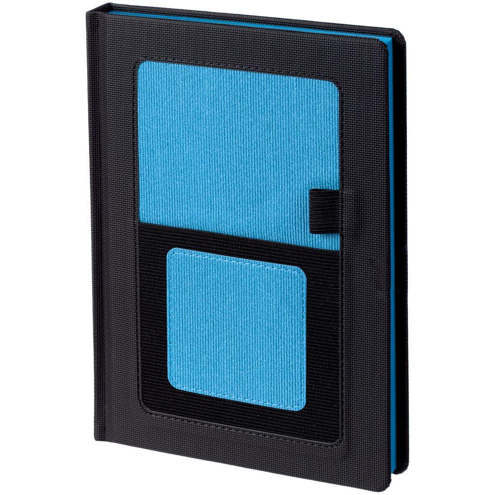 Ежедневник Mobile, недатированный, черный с голубым