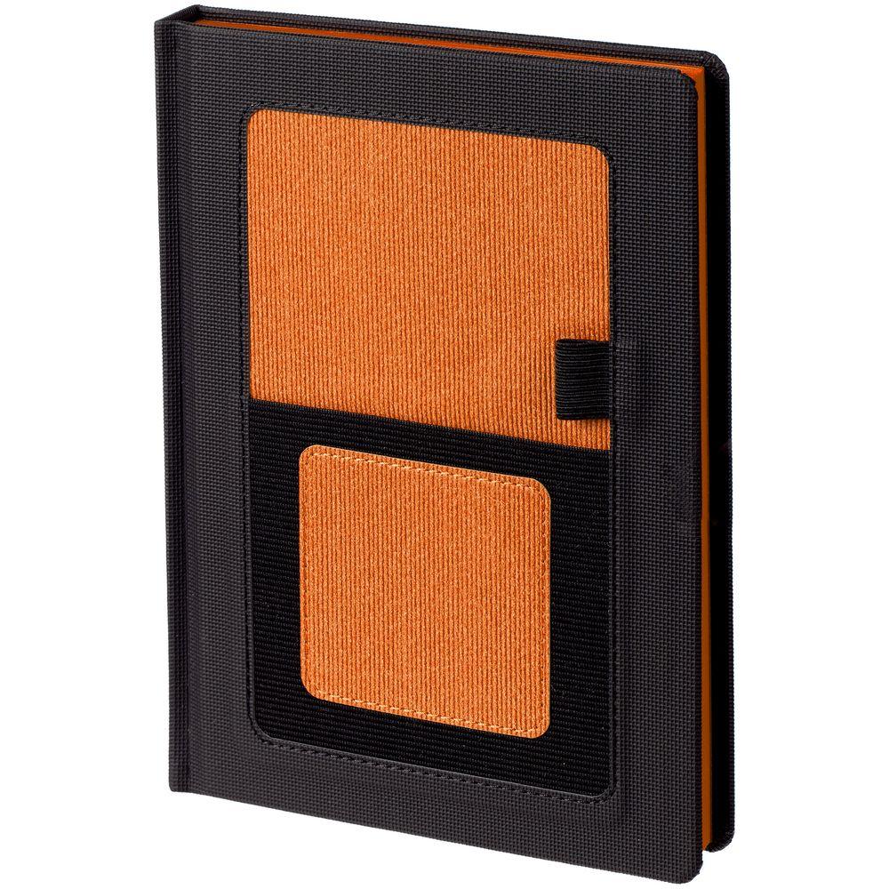 Ежедневник Mobile, недатированный, черный с оранжевым