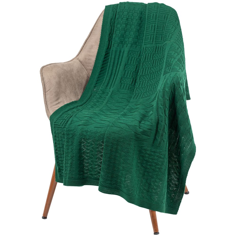 Плед Snippet, зеленый меланж
