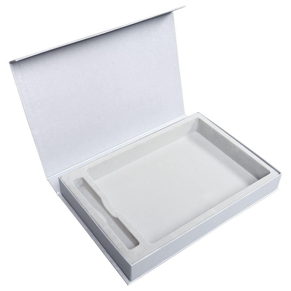 Коробка Silk с ложементом под ежедневник и ручку, серая