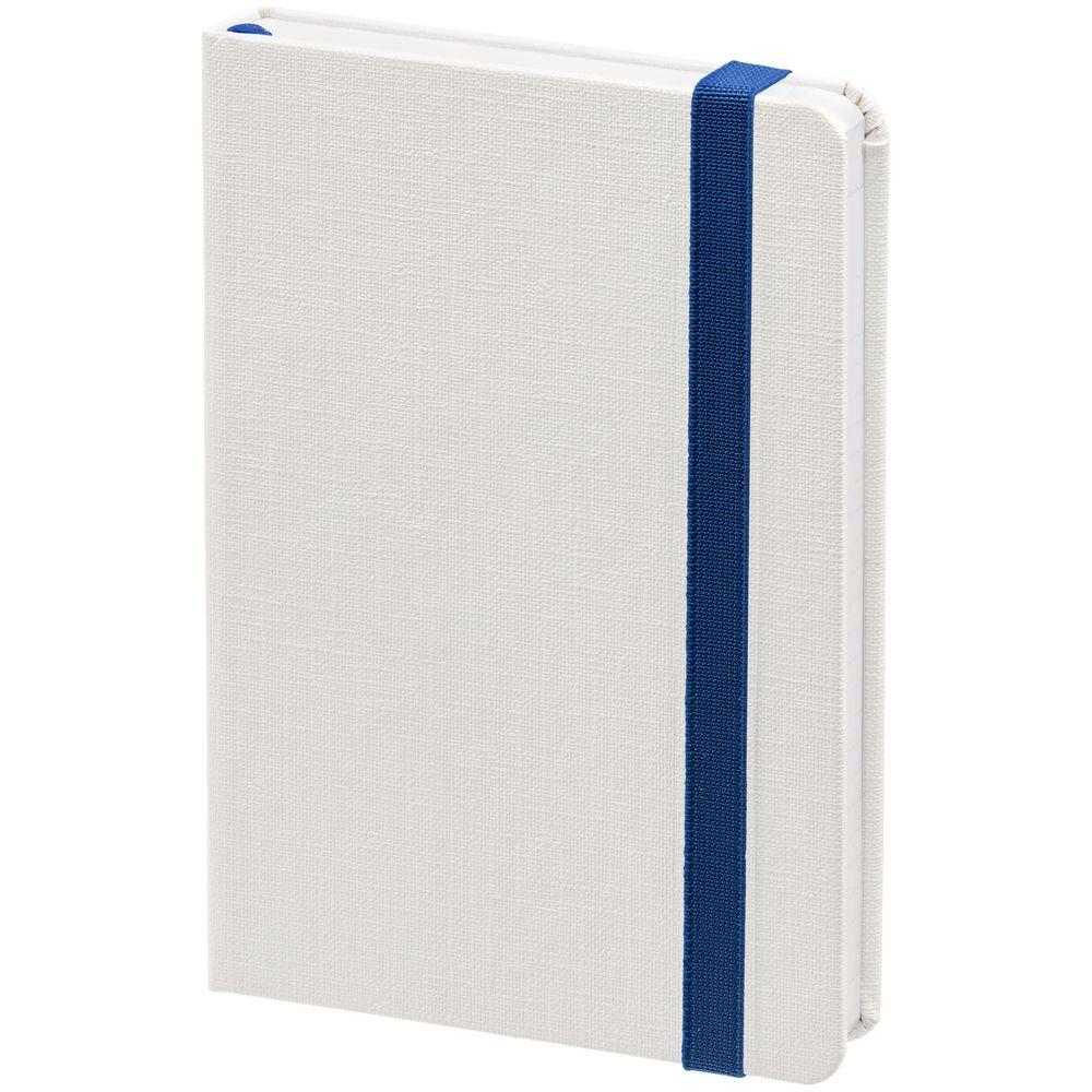 Блокнот Tex, белый с синим