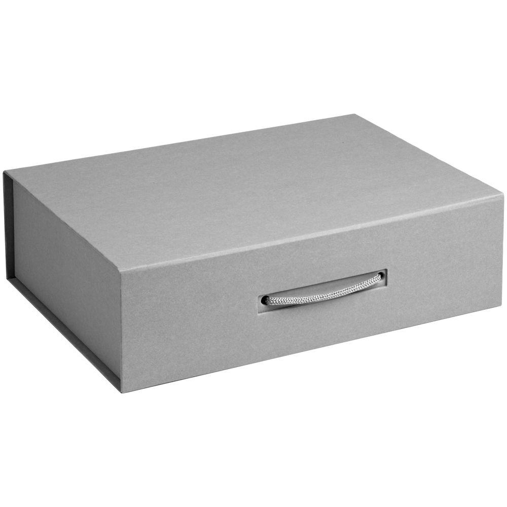 Коробка Case, подарочная, серый матовый