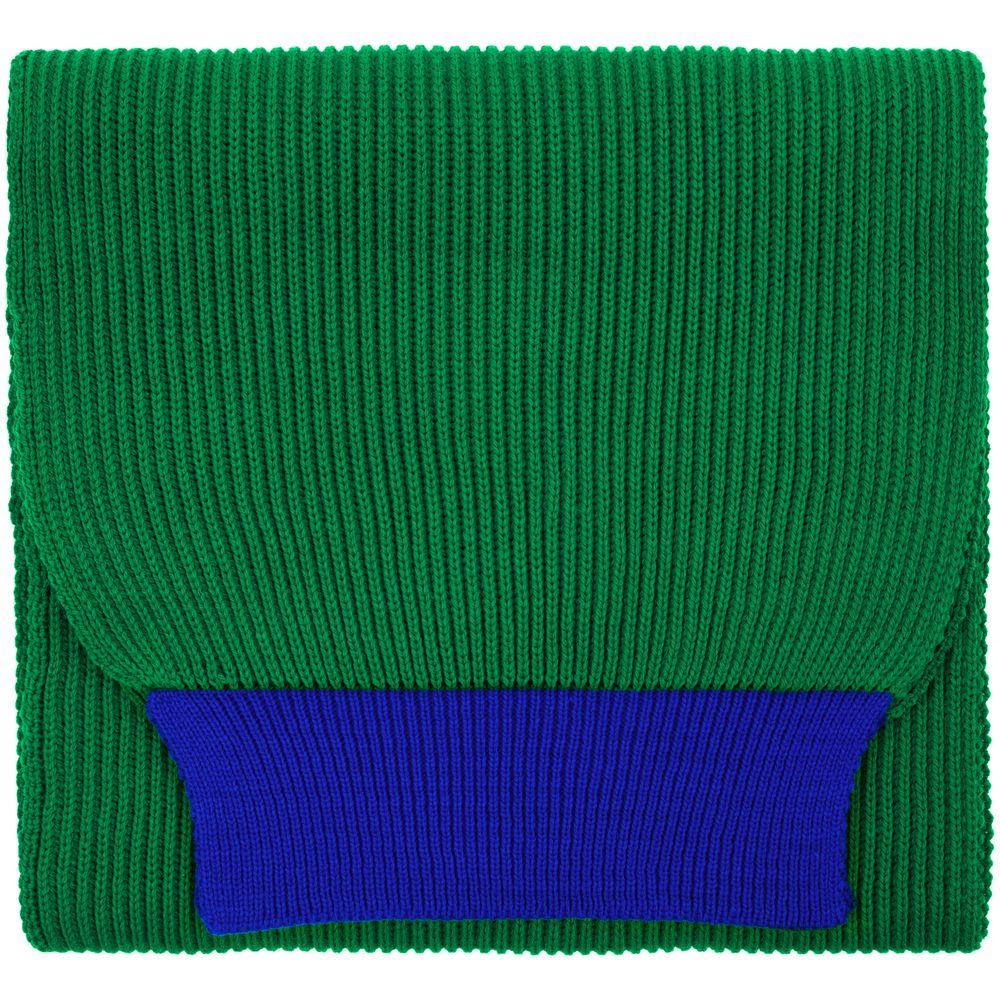 Шарф Snappy, зеленый с синим