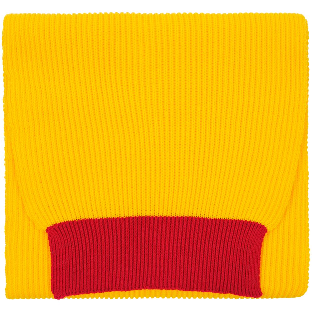 Шарф Snappy, желтый с красным