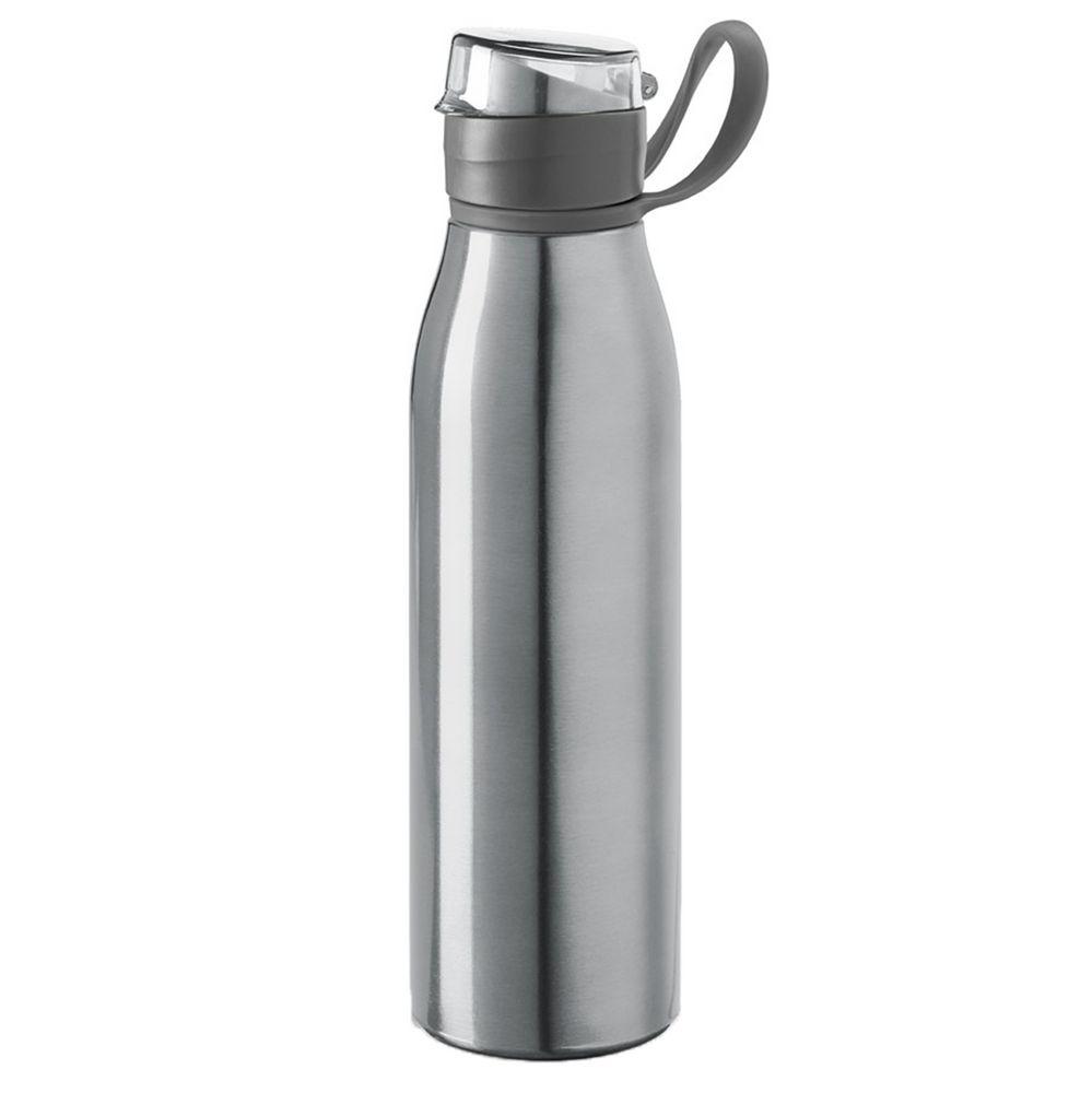 Спортивная бутылка для воды Korver, серебристая