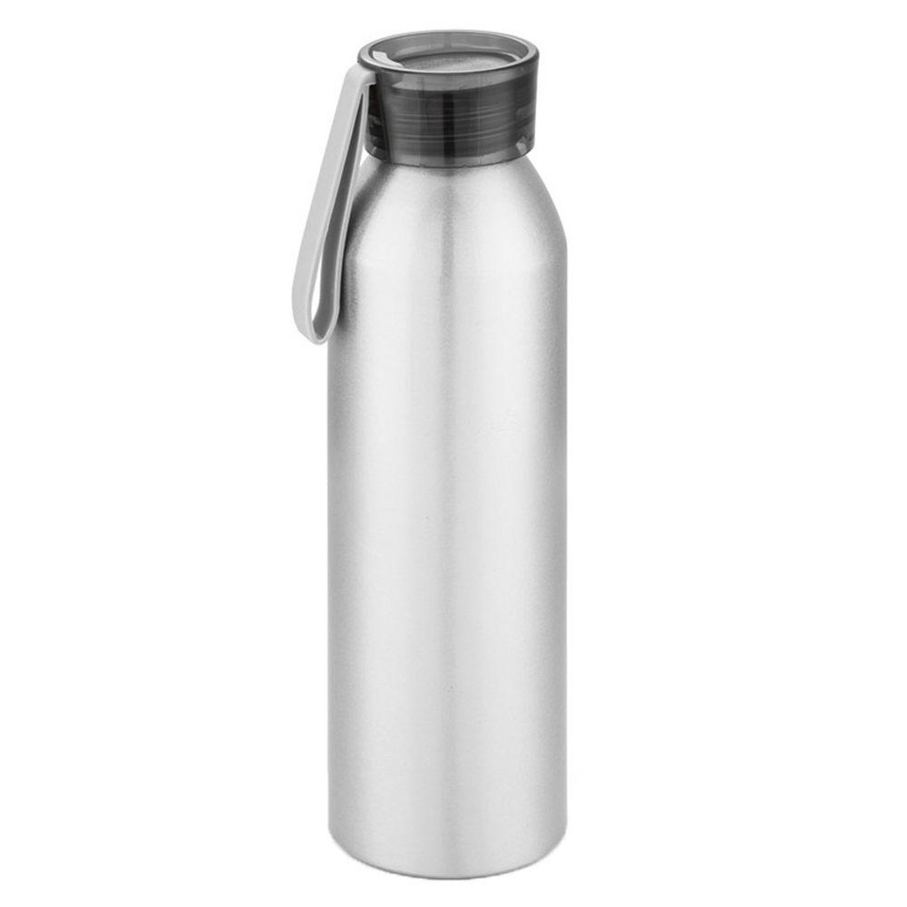 Спортивная бутылка для воды Rio, серебристая