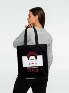 Холщовая сумка Frida & Friday, черная
