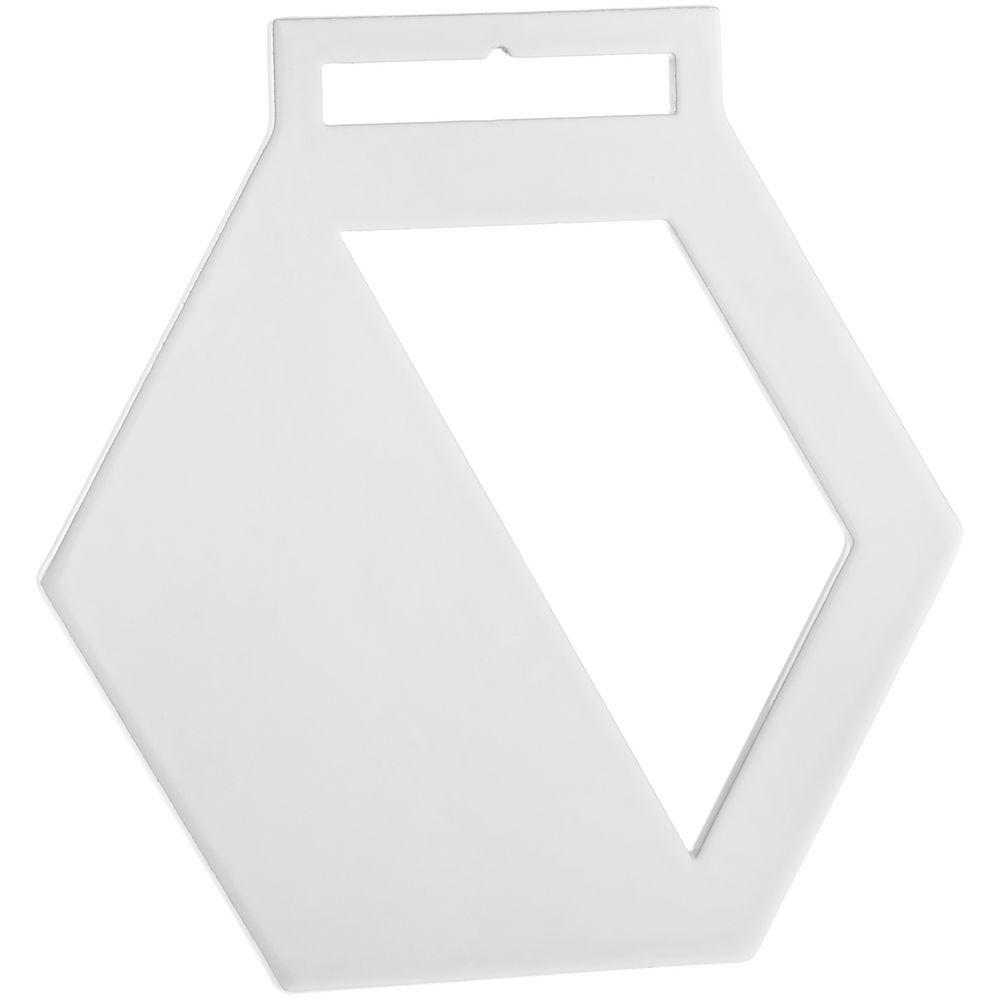 Медаль Steel Hexa, белая