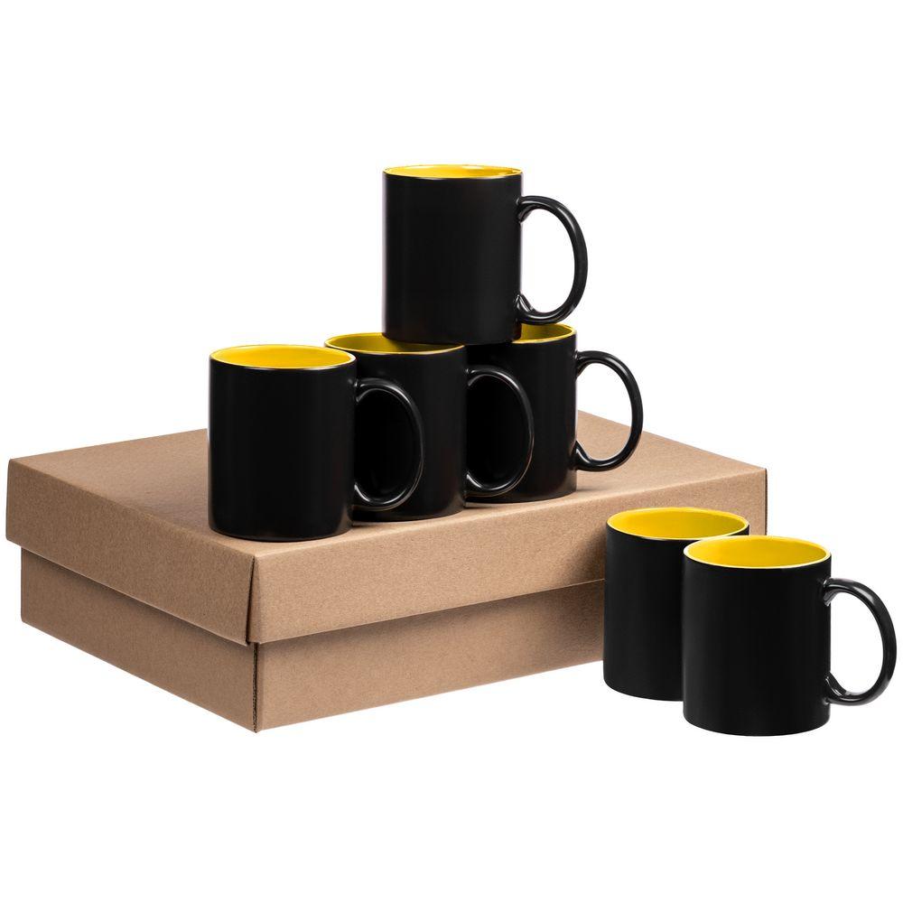 Набор кружек-хамелеонов On Display, желто-черный
