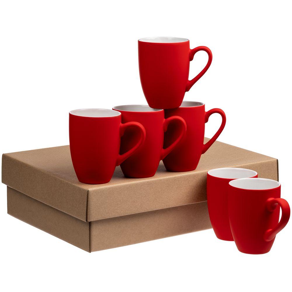 Набор кружек Best Morning c покрытием софт-тач, ярко-красный