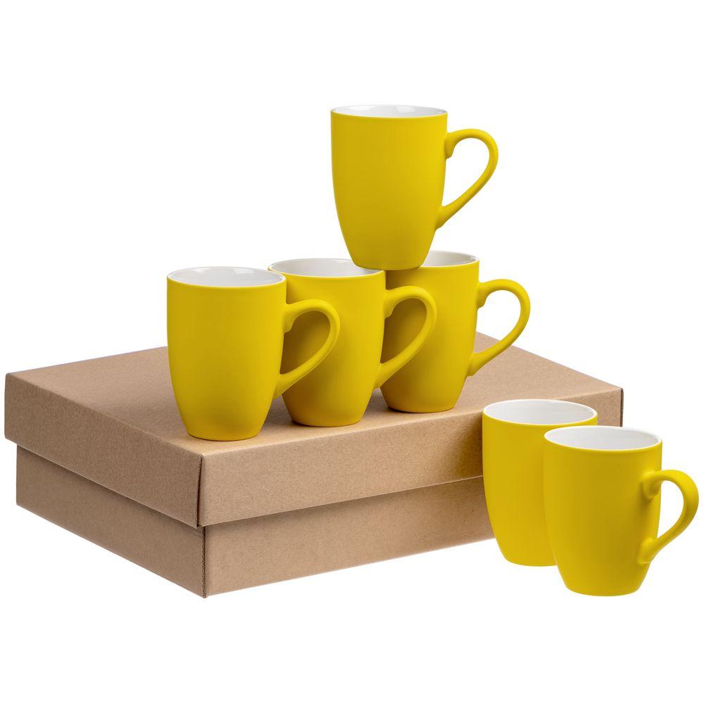 Набор кружек Best Morning c покрытием софт-тач, желтый