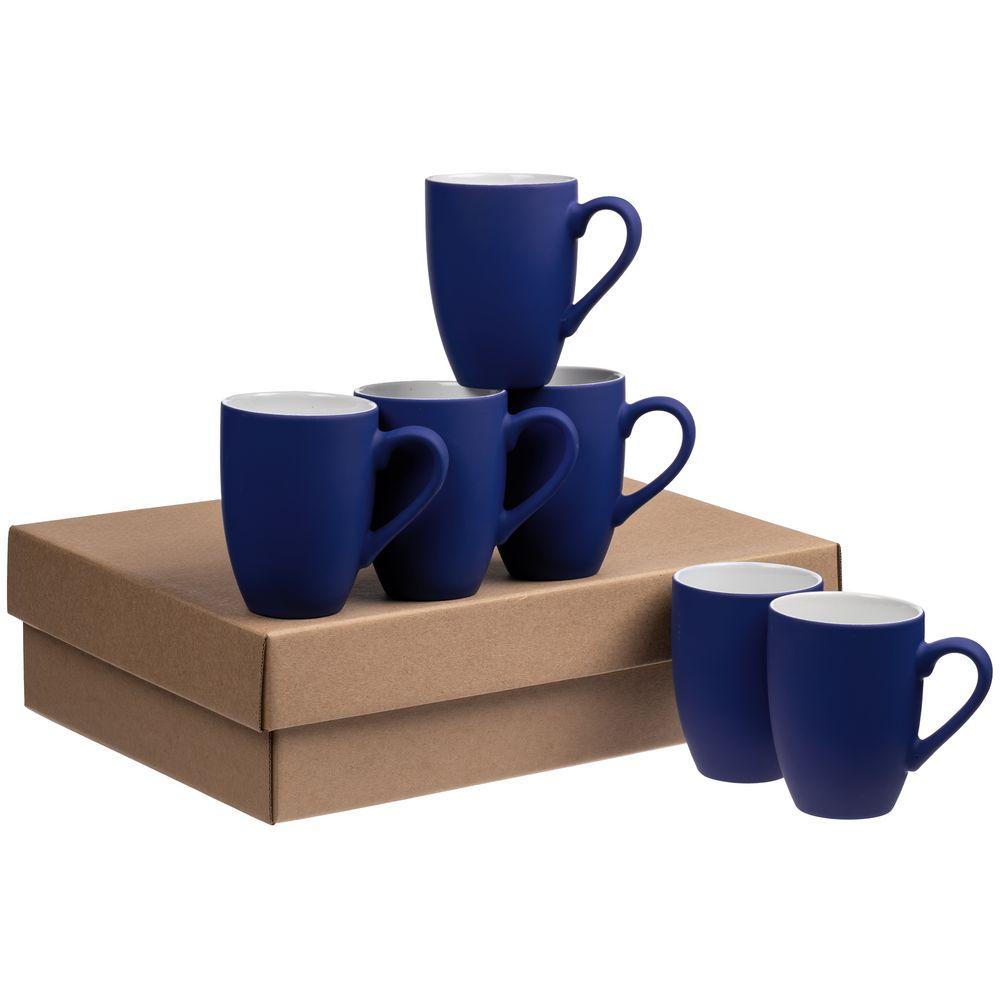 Набор кружек Best Morning c покрытием софт-тач, синий