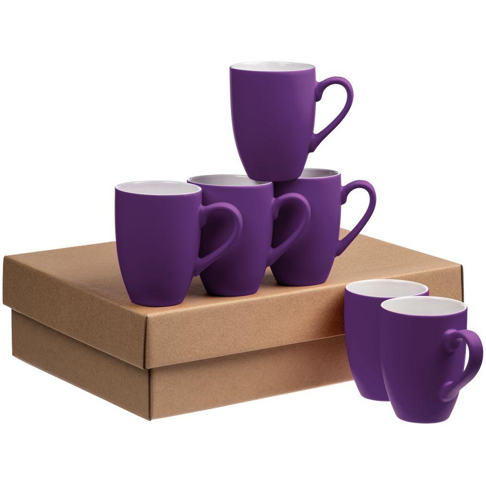 Набор кружек Best Morning c покрытием софт-тач, фиолетовый