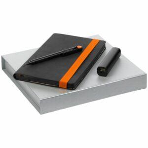 Набор Velours, черный с оранжевым