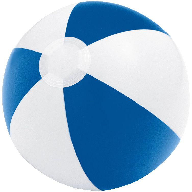 Надувной пляжный мяч Cruise, синий с белым