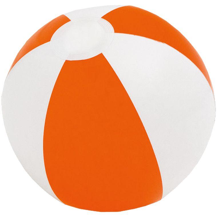 Надувной пляжный мяч Cruise, оранжевый с белым