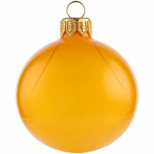 Елочный шар Gala Night в коробке, золотистый, 6 см