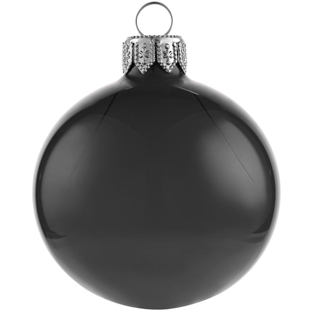 Елочный шар Gala Night в коробке, черный, 6 см