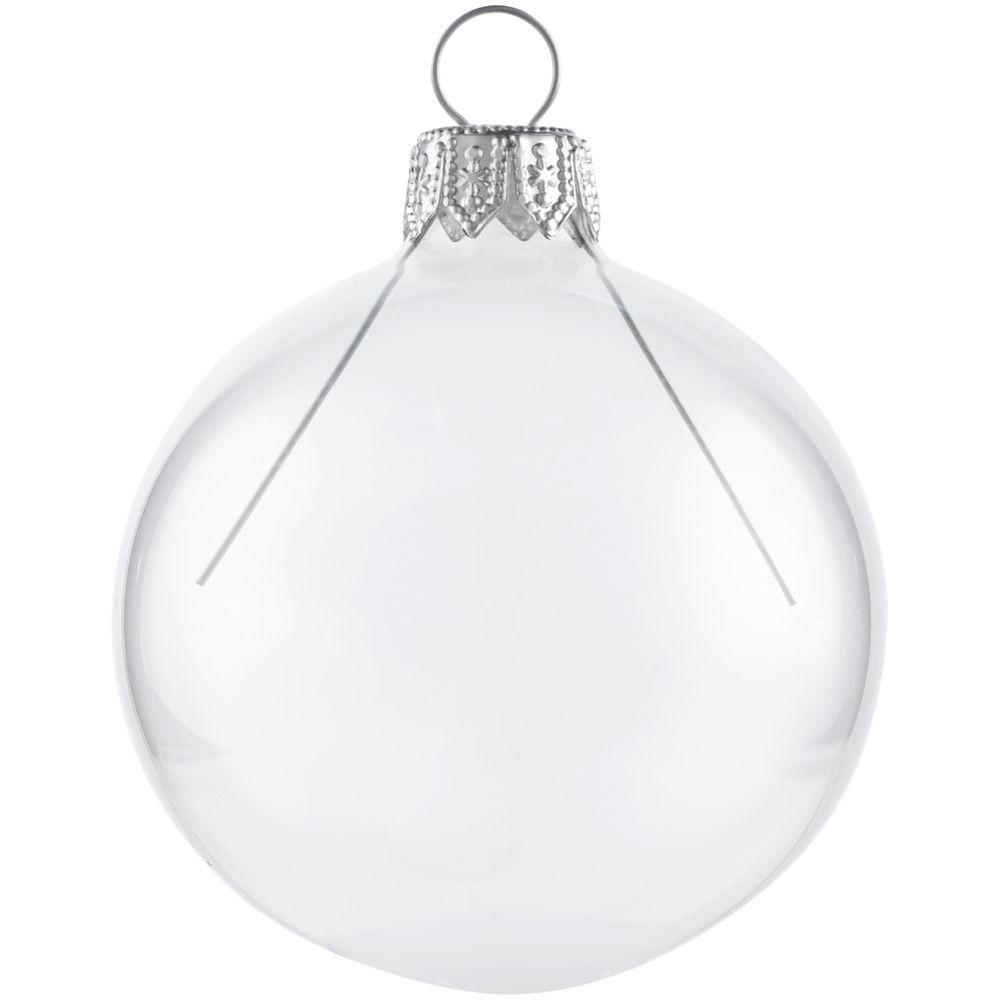 Елочный шар Gala Night в коробке, прозрачный, 6 см