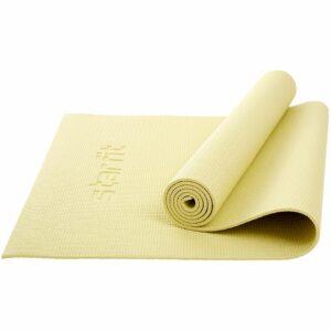 Коврик для йоги и фитнеса Core, желтый пастель
