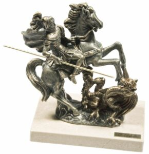 Скульптура «Георгий Победоносец», малая