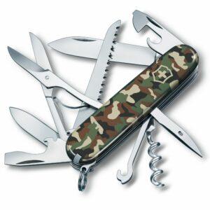 Нож перочинный Huntsman 91, зеленый камуфляж